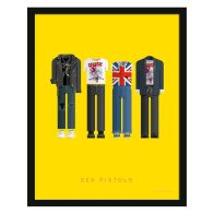 See more information about the Music Legends Punk Band Suit Framed Print Wall Art 14 x 11 Inch