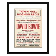 See more information about the Concert Poster David Bowie Framed Print Wall Art 16 x 12 Inch