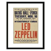 See more information about the Concert Poster Led Zeppelin Framed Print Wall Art 16 x 12 Inch