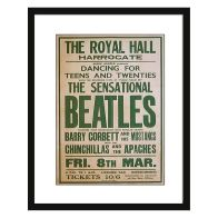 See more information about the Concert Poster Beatles Framed Print Wall Art 16 x 12 Inch