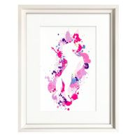 See more information about the Splatter Art Prancing Horse Framed Print Wall Art 16 x 12 Inch