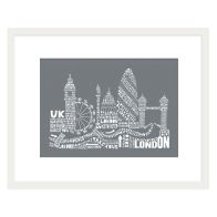 See more information about the Citography London Framed Print Wall Art 16 x 12 Inch