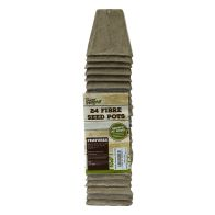 See more information about the 24 Pack Growing Patch Square 6cm Fibre Seed Pot