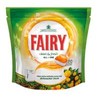 See more information about the Fairy Clean & Fresh All In One Dishwasher Tablets Citrus Grove 20 Wash