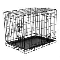 See more information about the RAC Fold Flat Metal Pet Crate Travel Carrier Small