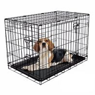 See more information about the RAC Fold Flat Metal Pet Crate Travel Carrier Medium