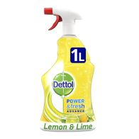 See more information about the Dettol Power & Fresh Advance Lemon & Lime 1L
