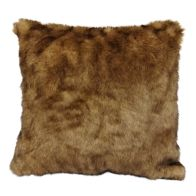 See more information about the Hamilton McBride Faux Fur Cushion 50 x 50cm - Brown
