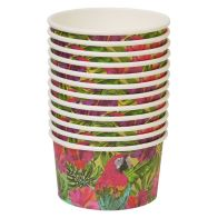 See more information about the Tropical Paper Bowls 9.5cm Pack 12 - Parrot