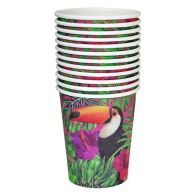See more information about the Tropical Paper Cups Pack 12 - Toucan