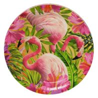 See more information about the Tropical Paper Plates 23cm Pack 12 - Flamingo