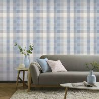 See more information about the Country Check Denim Wallpaper