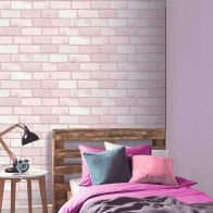 See more information about the Diamond Pink Brick Wallpaper