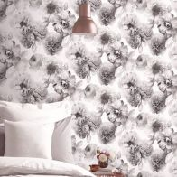 See more information about the Diamond Floral Mono Wallpaper