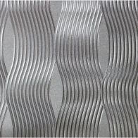 See more information about the Foil Wave Silver Wallpaper