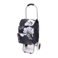 See more information about the Portable Shopping Trolley Black & White Floral
