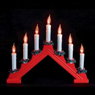 See more information about the 7 Bulb Flame Effect Candle Bridge With Wreaths
