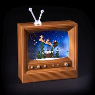 See more information about the Light Up TV Ornament With Santa Scene LED 55cm