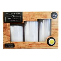 See more information about the LED Flickering Candles Battery Operated - 3 Pack