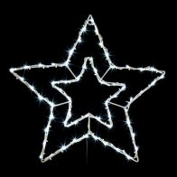 See more information about the 60 LED White Outdoor Double Neon Star Light 48cm
