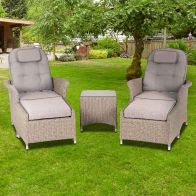 See more information about the Henley Rattan Garden Armchair Set Brown 2 Seats
