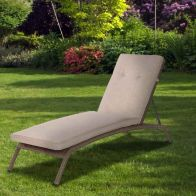 See more information about the Canterbury Rattan Garden Sunbed Recliner & Cushion Brown