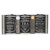 See more information about the Set Of 3 Sugar Tea Coffee Tins Black