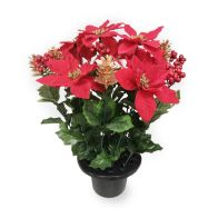 See more information about the Large Poinsettia & Pine Cone Grave Pot