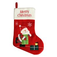 See more information about the Red Fleece Merry Christmas Santa Stocking