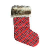 See more information about the Red Check & Faux Fur Christmas Stocking