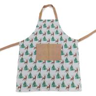 See more information about the Festive Stag Print Apron