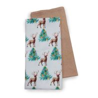See more information about the Festive Stag Print 2 Pack Tea Towels