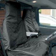 See more information about the Black Water Resistant Nylon Van Seat Covers