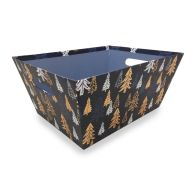 See more information about the Small Navy & Gold Tree Hamper Tray