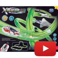 See more information about the X-elarate Glow In The Dark Vertigo Tube Racers Set 129 Pieces