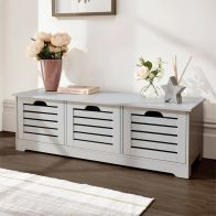 See more information about the Bergen Storage Bench Grey 3 Door