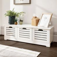 See more information about the Bergen Storage Bench White 3 Door