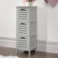 See more information about the Bergen Grey Slim Chest Of 3 Drawers