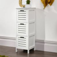 See more information about the Bergen White Slim Chest Of 3 Drawers