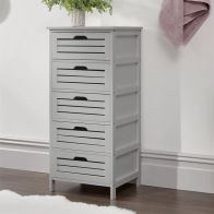 See more information about the Bergen 5 Drawer Wide Storage Unit Grey