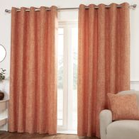 See more information about the Hamilton McBride Miami Eyelet Curtains Orange 46 x 54cm