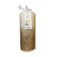 See more information about the Gold Glitter Pillar Candle -18 x 7cm