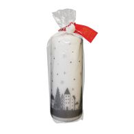 See more information about the White & Silver Pillar Candle 18 x 7cm