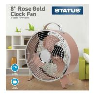 See more information about the 8 Inch Rose Gold Clock Fan