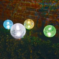 See more information about the Bright Garden Solar Dual Function Crackle Ball Light - White