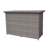 See more information about the Croft Cushion Storage Box - Grey Rattan