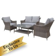 See more information about the Arles Conservatory Garden Patio Furniture Set - 4 Pieces