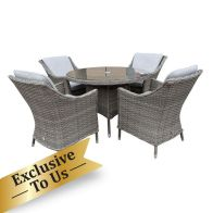 See more information about the Arles Conservatory Garden Patio Dining Set - 4 Seater