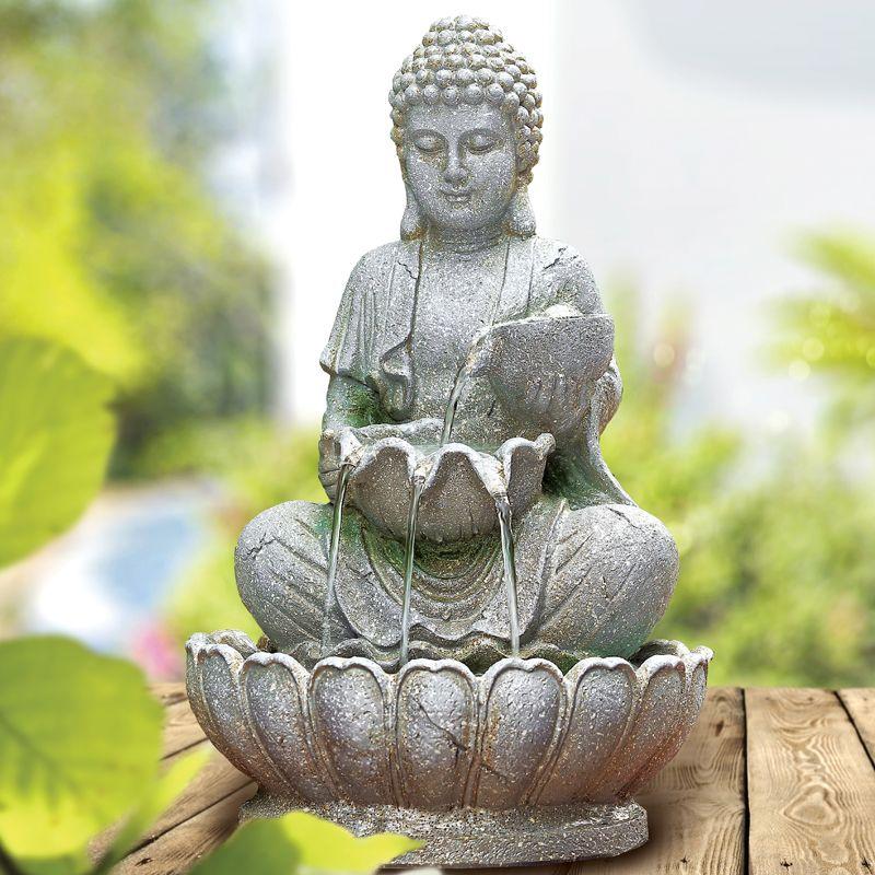 Buy Bright Garden Solar Buddha Water Fountain Online At Cherry Lane