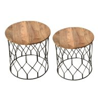 See more information about the Ravi Solid Wood Side Table and Stool